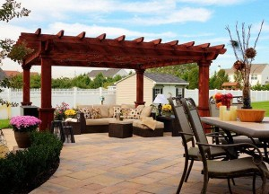 A pergola designed for great seating