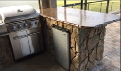 Random Rock Outdoor Kitchen