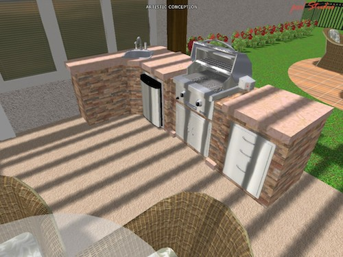 outdoor kitchen rendering