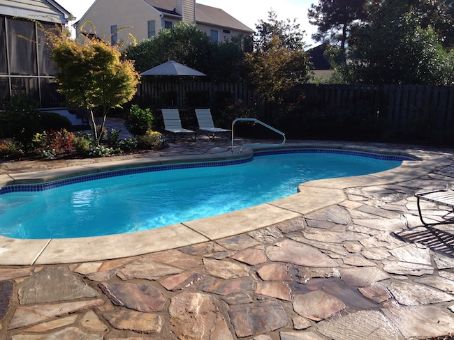 pool:stone deck: wilmington, nc