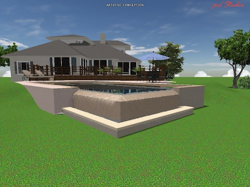 concrete pool render