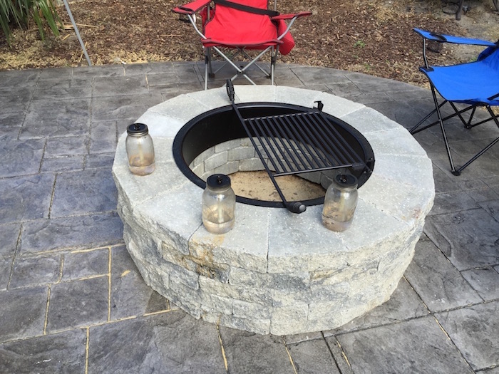 Wood Firepit with grill