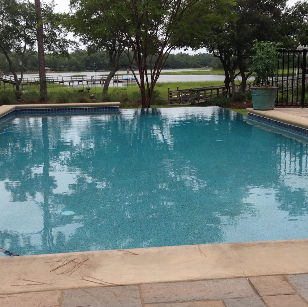Infinty Edge Concrete Pool