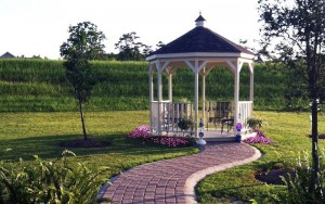 Small Gazebos are great for gardens