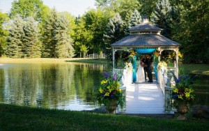 Gazebos are great places for weddings