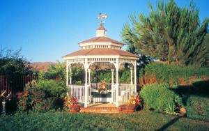 Gazebos are a great feature in landscapes