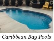 Caribbean Bay fiberglass pool