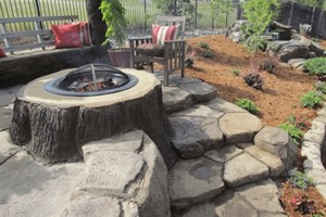 Tree Stump Firepit