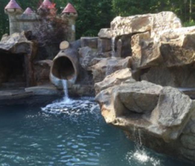 Waterfall w/ Slide