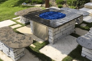 White Brick Firepit
