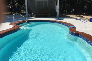 Fiberglass Pool w/ Custom Pool House