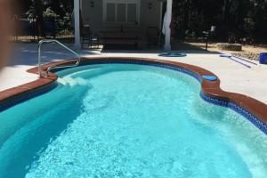 Fiberglass Pool w/ Custom Pool House