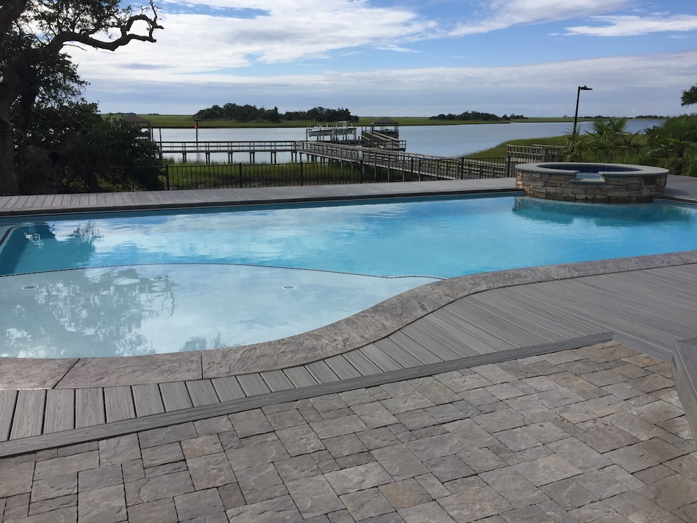 concrete pool installed