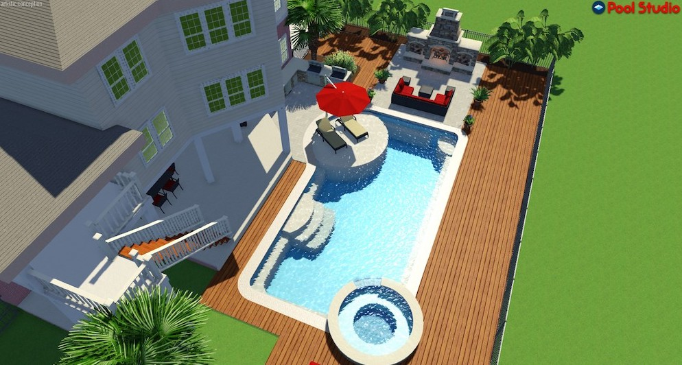 concrete pool 3-d design