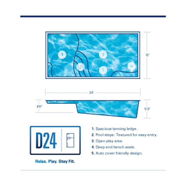 D24 Fiberglass Pool