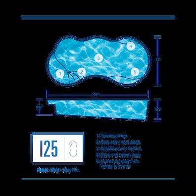 I25 Fiberglass Pool