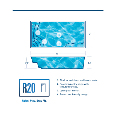 R20 Fiberglass Pool