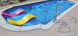 Roman Lounger Fiberglass Pool