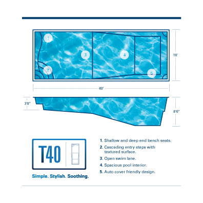 T40 Fiberglass Pool