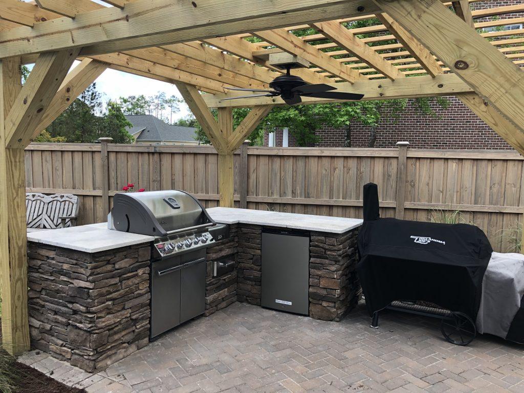 Outdoor Kitchen w/ Custom Pergola
