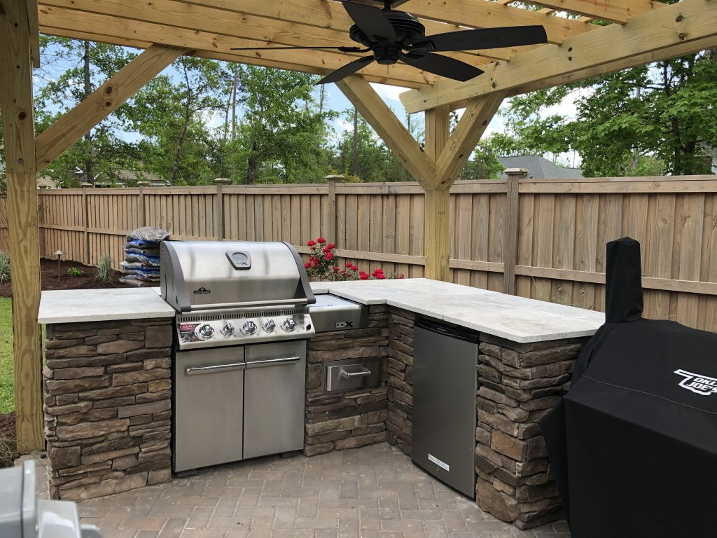 Custom Outdoor Kitchen, Hampstead, NC