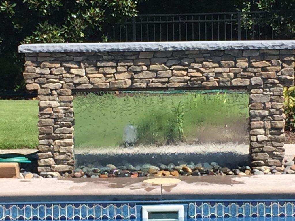 Poolside Water Wall