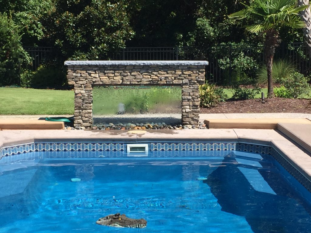 Pool Side Water Wall